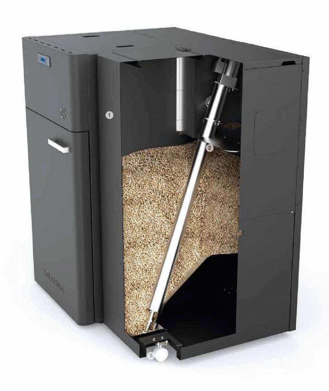 Chaudière semi automatique à granulés de bois