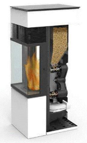 Acheminement des pellets dans un poêle DIELLE